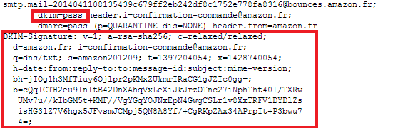 Délivrabilité DKIM Pass