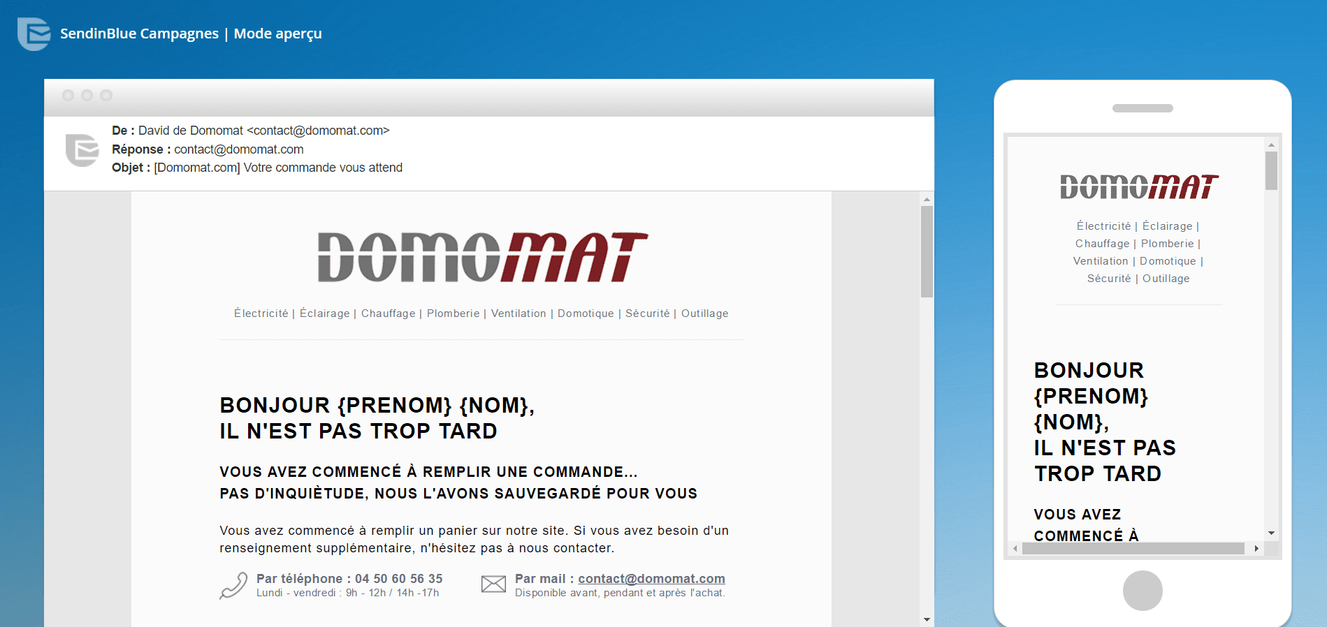 domomat template email