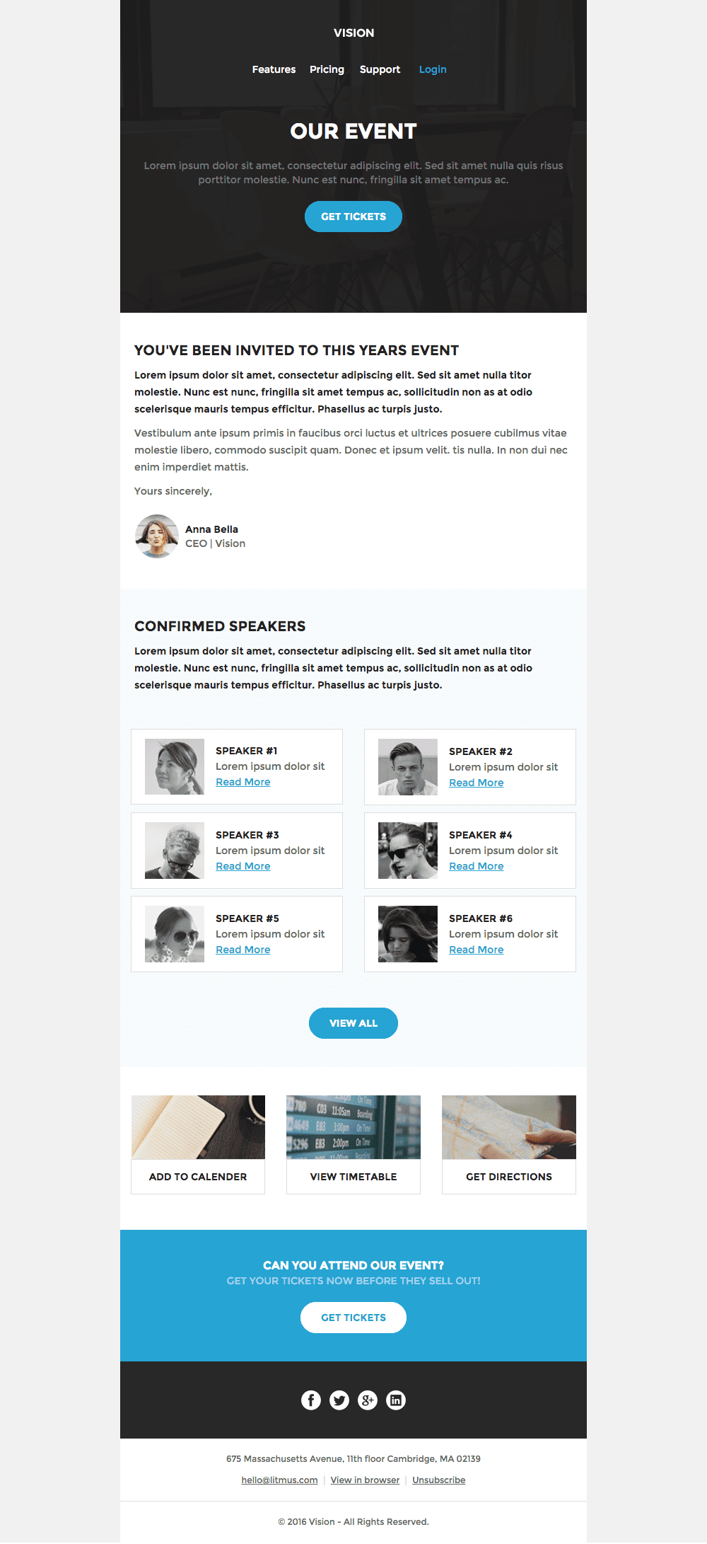templates event