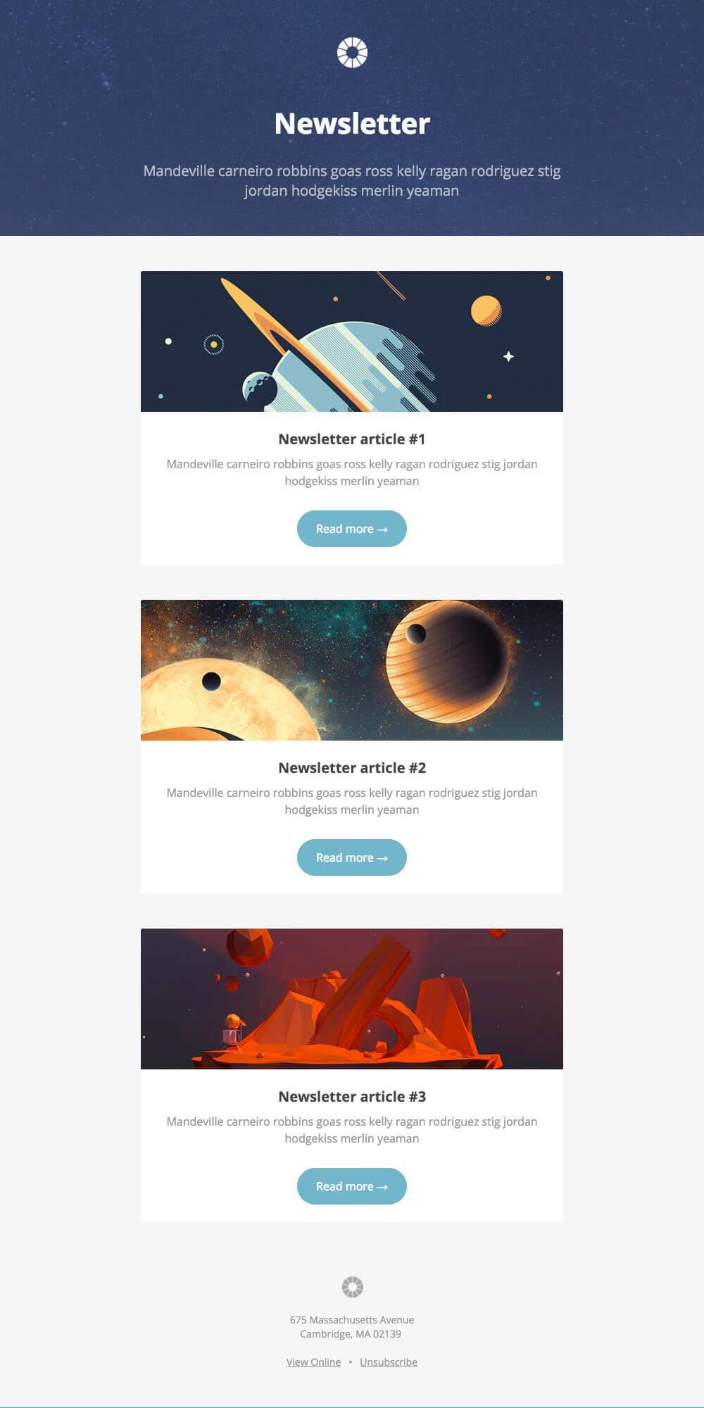 templates de newsletter