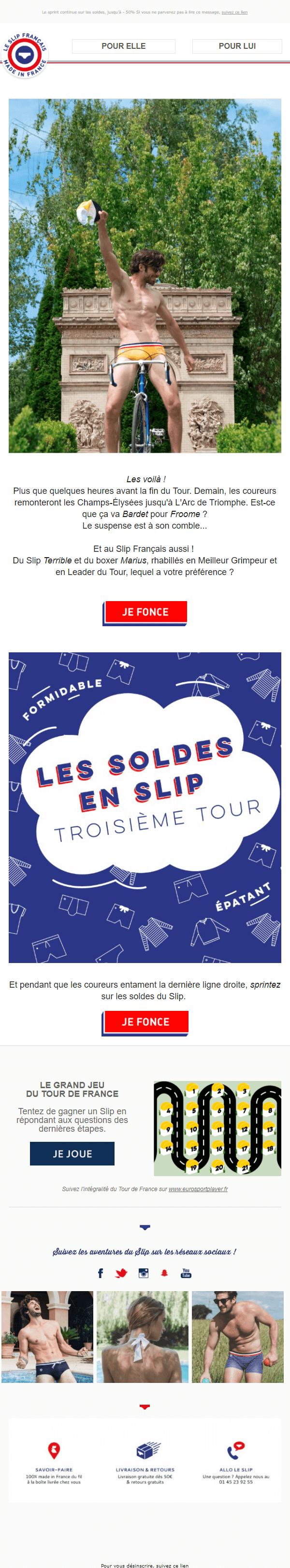 Exemple newsletter #5 : Le Slip Français