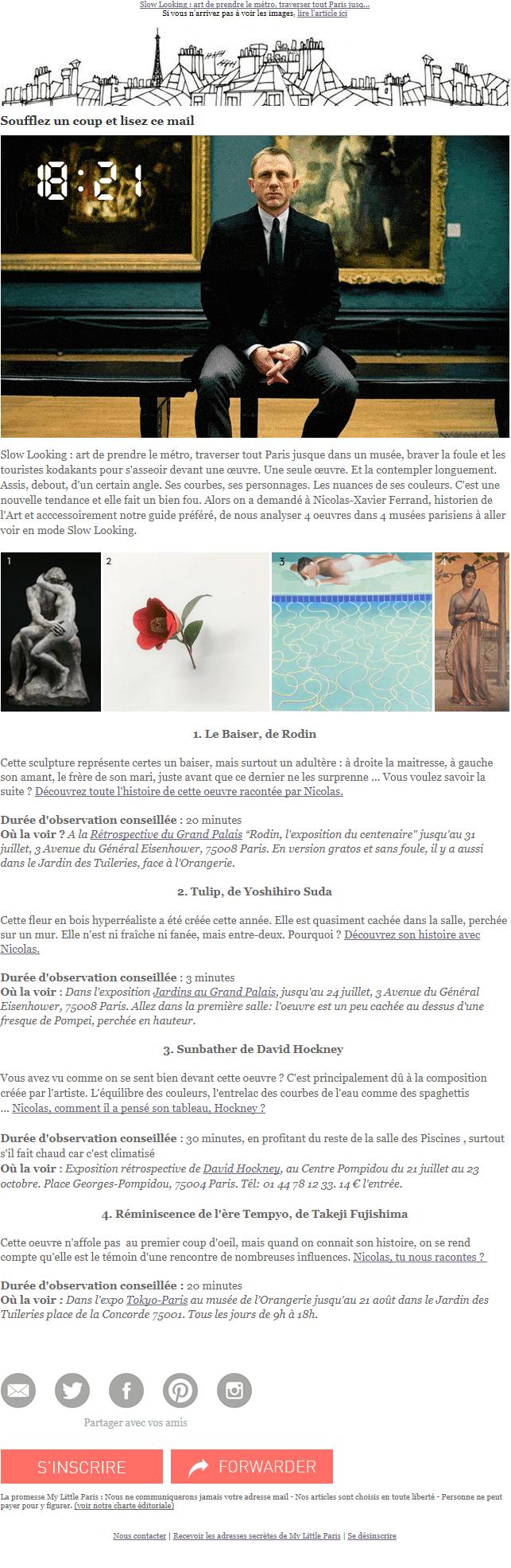 Exemple de newsletter #15 : My Little Paris
