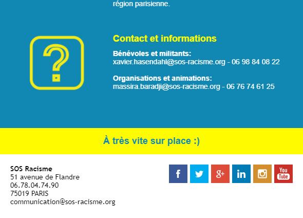 Newsletter association : l'exemple de SOS Racisme