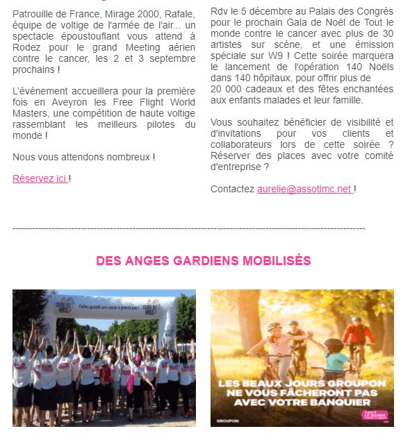 Newsletter association : l'exemple de Tout le monde contre le Cancer