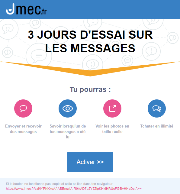 Emails et newsletters de sites de rencontres : email marketing de jmec
