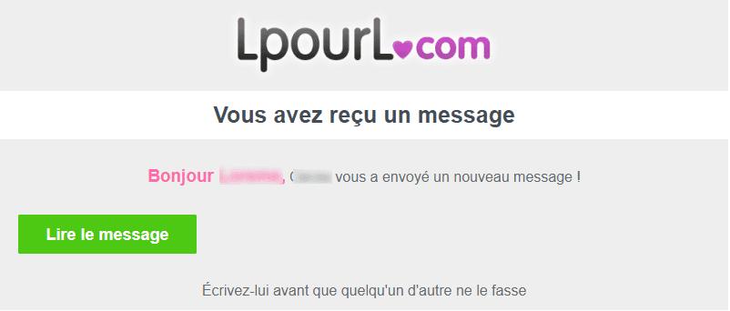 Emails et newsletters de sites de rencontres : email marketing de lpourl
