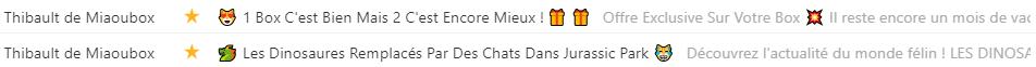 Emoji emailing : illustration d'utilisation par Miaoubox