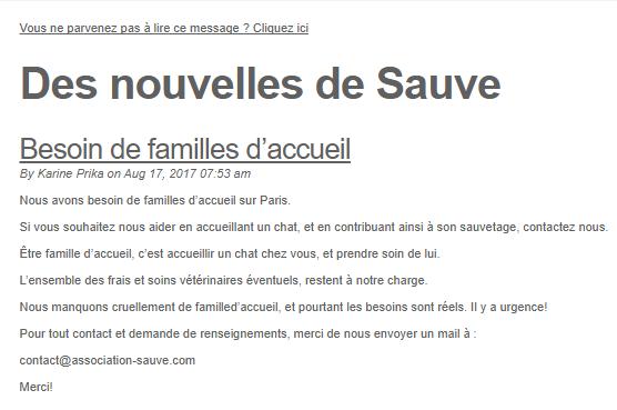 Newsletter association : l'exemple de Sauve