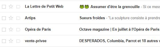 Utilisation des emojis dans un objet d'email