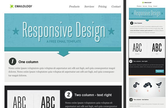 Template responsive design gratuit - Email on Acid