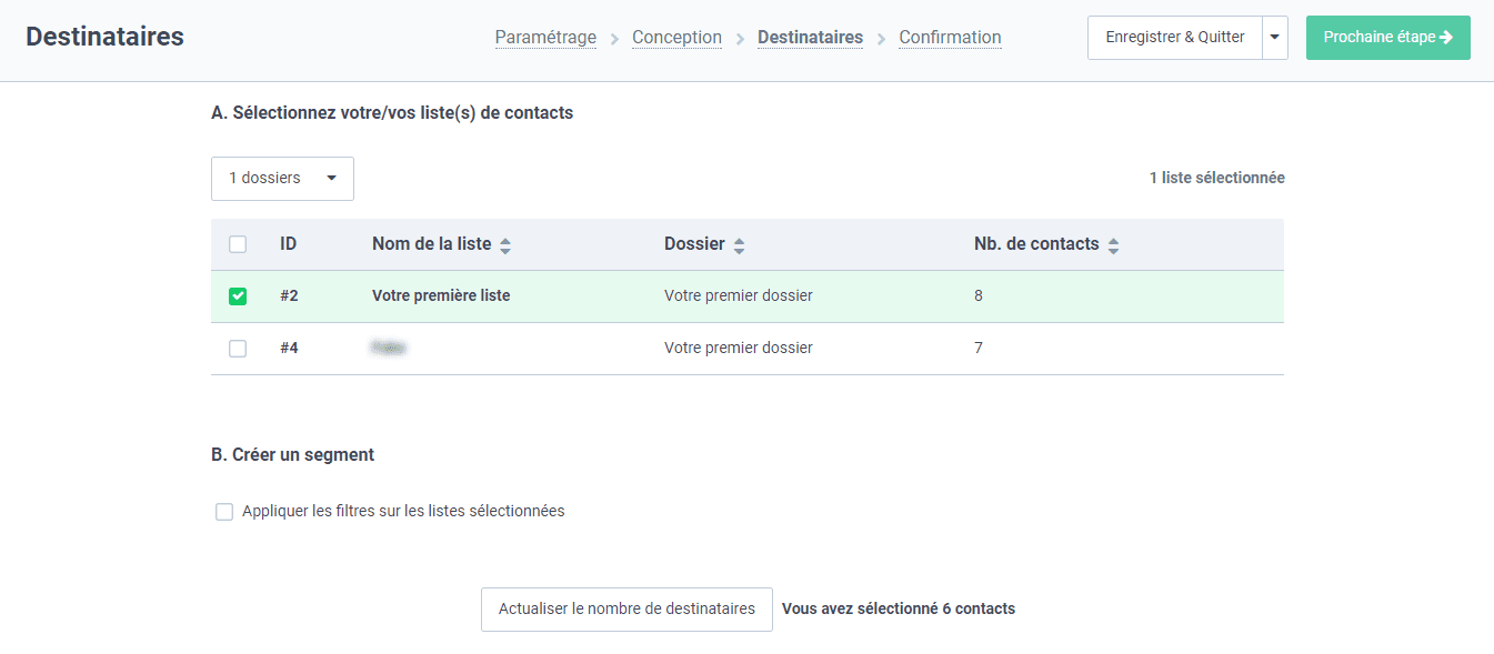 Sendinblue : une segmentation beaucoup plus facile