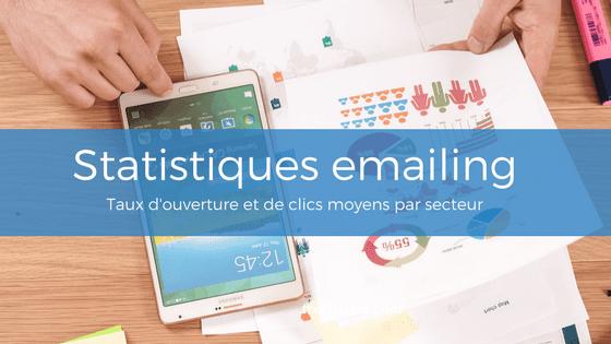 Statistiques emailing : Taux d'ouverture et de clics moyens par secteur