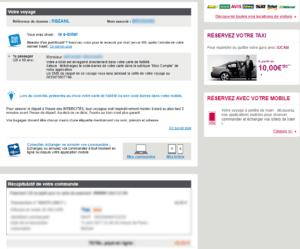 Email marketing e-commerce de voyages-SNCF : email de confirmation de commande classique