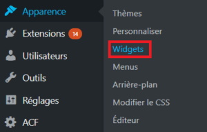 Apparence --> Widgets
