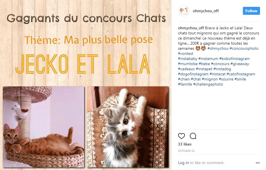 Sur Instagram, les concours font fureur !