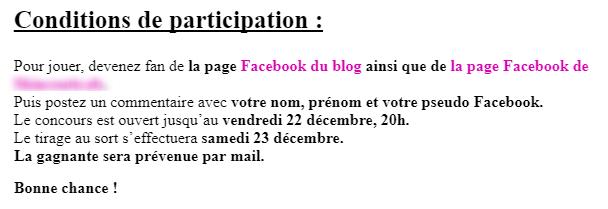Jeu concours de labeautéparisienne.com