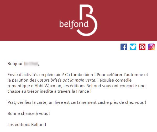 Jeu concours Belfond : le offline à ses intérets !