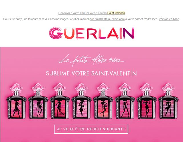 Newsletter Saint Valentin - Guerlain