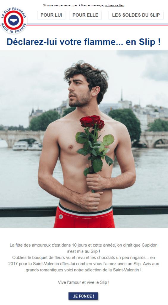 Newsletter Saint Valentin - Le Slip Français