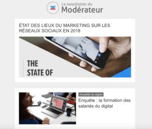 La newsletter du modérateur