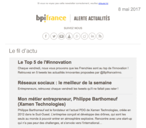Newsletter bpifrance