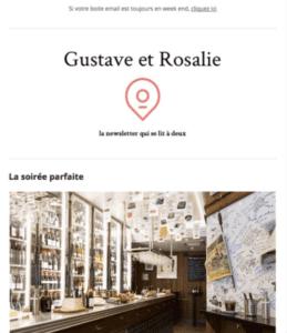 Newsletter Gustave et Rosalie
