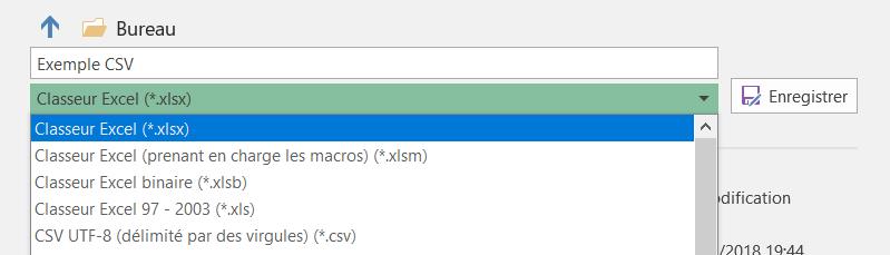 Enregistrer un fichier CSV en tant que classeur Excel