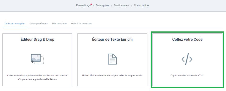 """Editeur """"coller votre code"""""""
