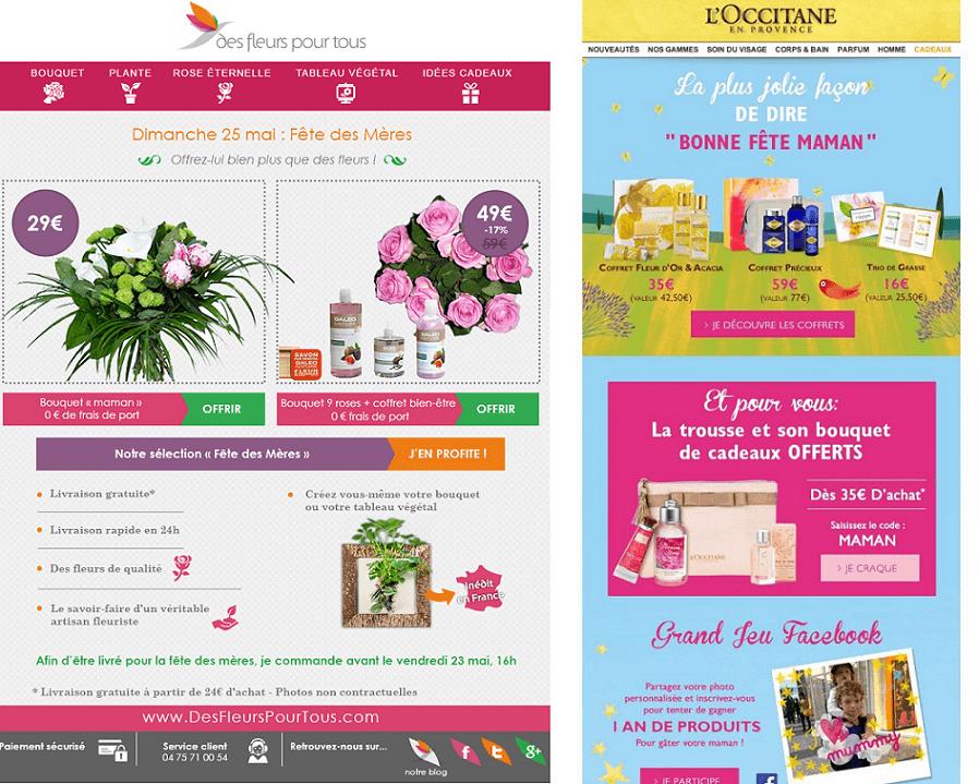 newsletter fete des meres : choisir la bonne palette de couleurs