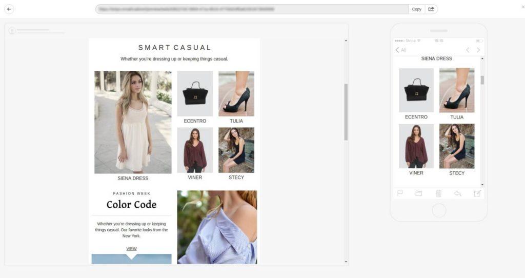 Exemple de design d'email #2 : Smart Casual