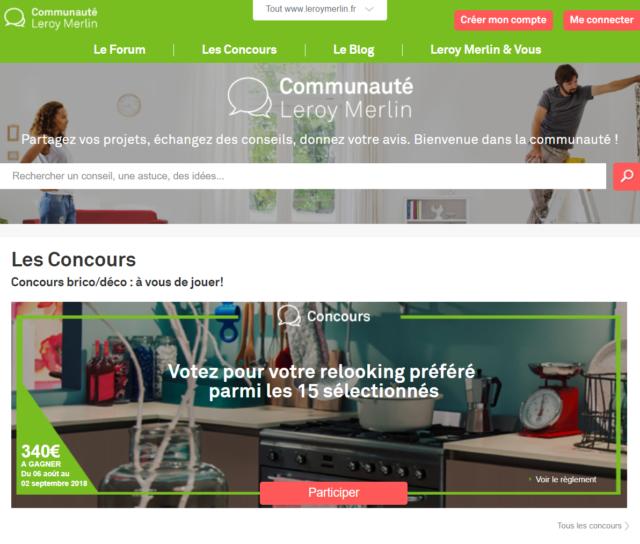 L'espace communautaire de Leroy Merlin : au croisement de l'Inbound Marketing et de la relation client