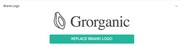 Intégration du logo de la marque