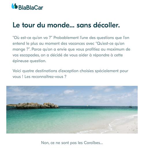 Exemple de mailing #3 : Blablacar (première partie)