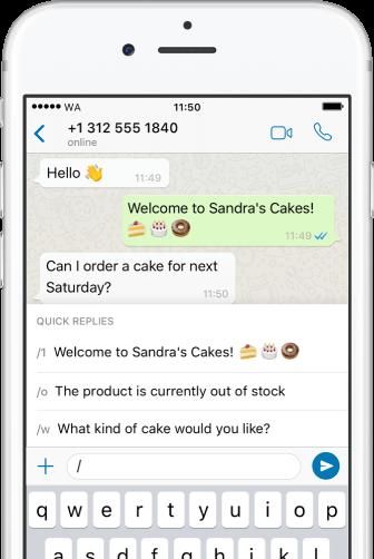 WhatsApp Business - Message de bienvenue