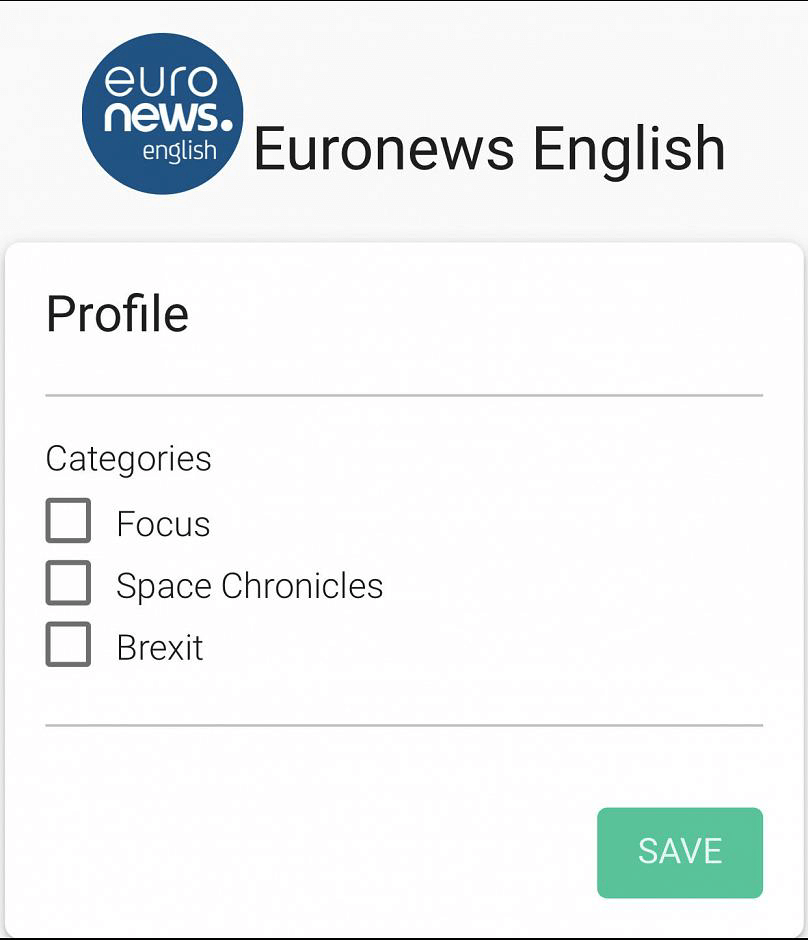 WhatsApp for Business - exemple Euronews