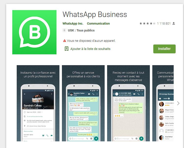 WhatsApp Business - télécharger