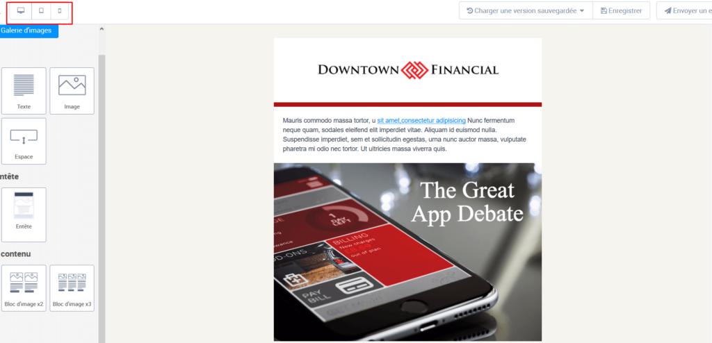 Format de newsletter - affichage sur mobile