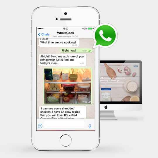 WhatsApp for Business - exemple Hellmann's