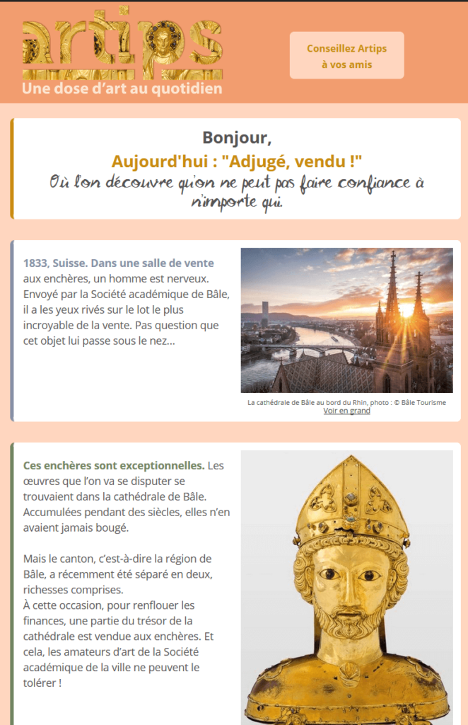 La newsletter Artips
