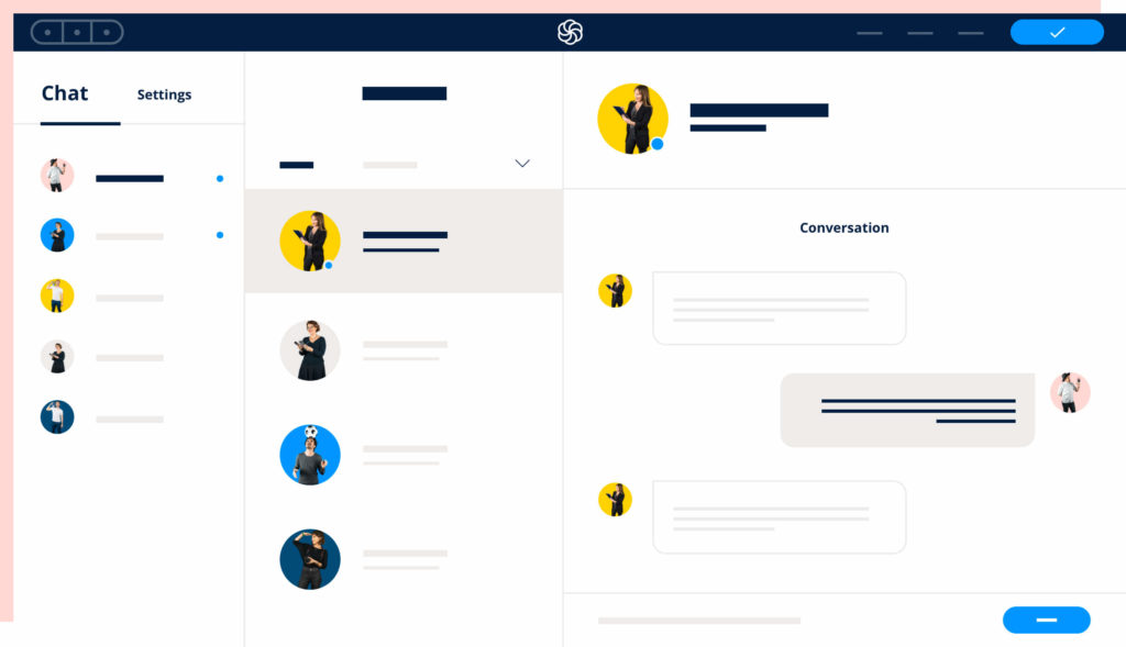 Interface de marketing conversationnel de Sendinbluelue