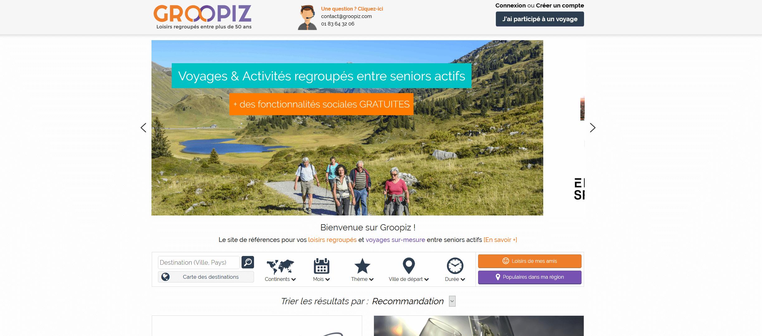 Newsletter tourisme - seniors