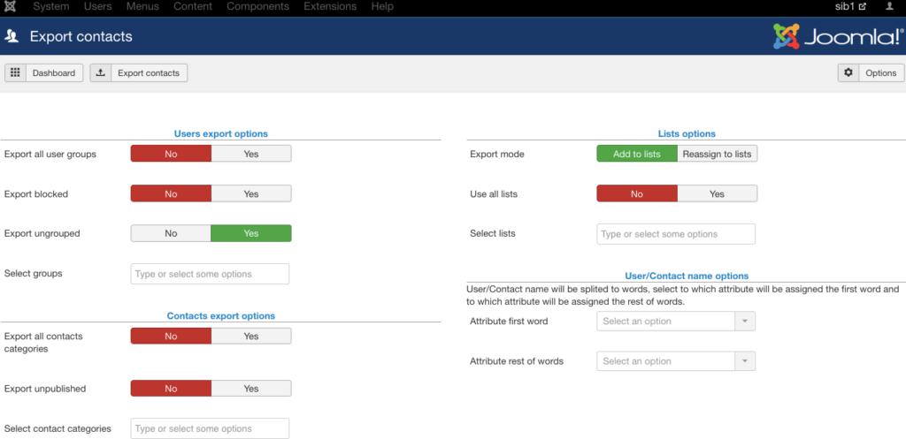 Plugin Joomla - synchroniser les contacts