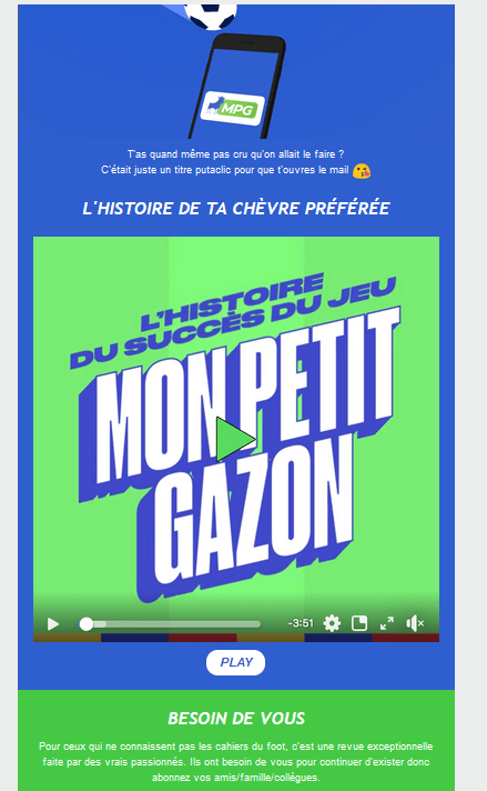 couleur et marketing - exemple avec contraste