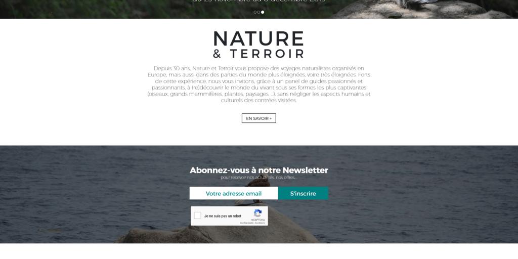 Newsletter tourisme - formulaire d'inscription