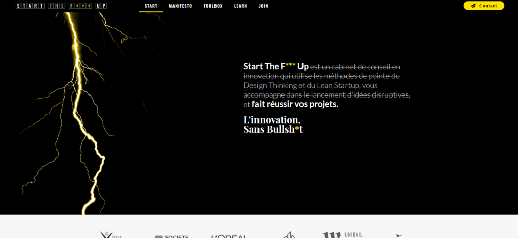 Code couleur marketing jaune et noir