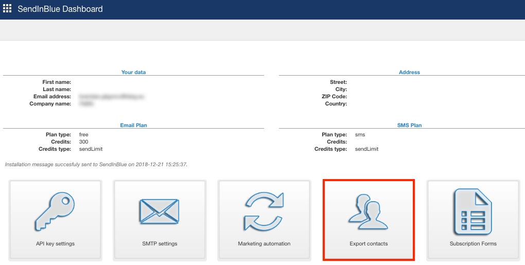 Plugin Joomla - exporter les contacts