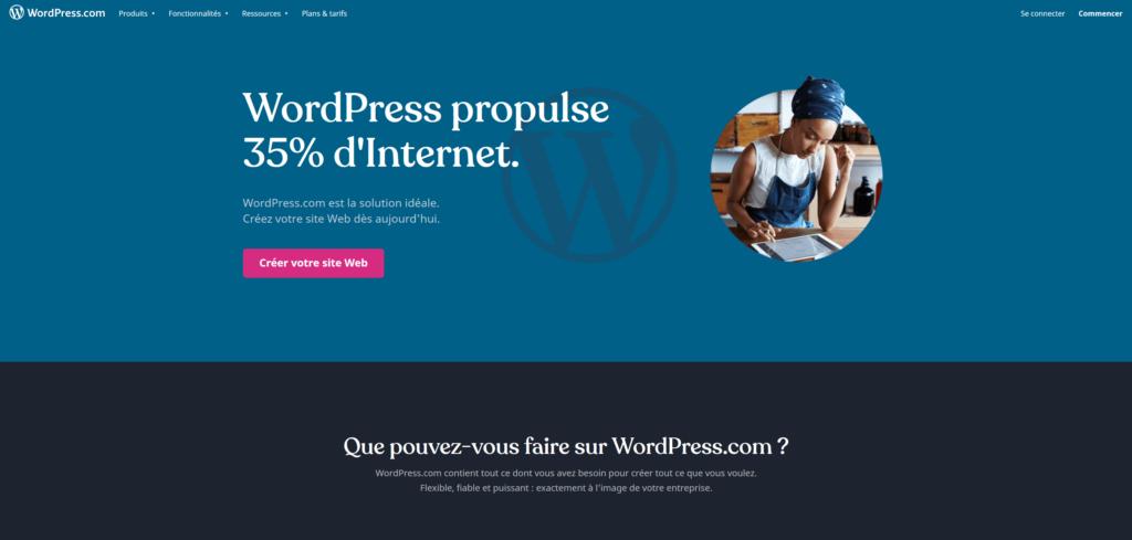 stratégie marketing pme - exemple wordpress