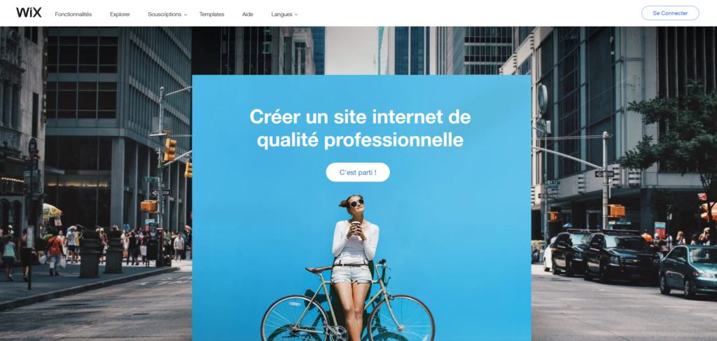 stratégie marketing d'une entreprise - exemple Wix