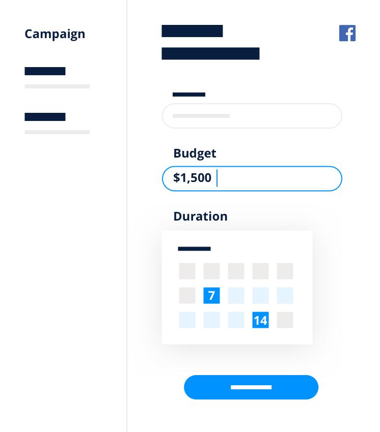 Facebooks Ads budget