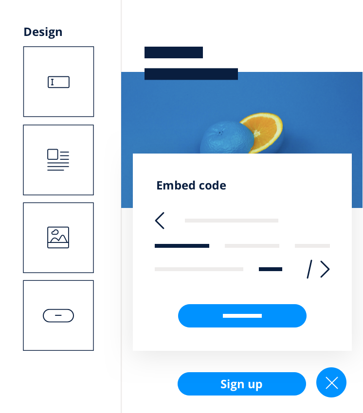 Formulaire Embed Code
